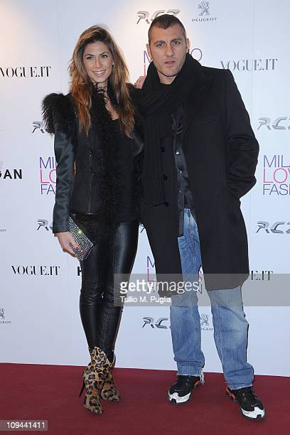 Melissa Satta and Christian Vieri attend the Duran Duran dinner and concert at the Teatro dal Verme as part of Milan Fashion Week Womenswear...