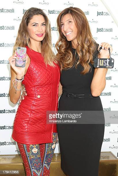 Melissa Satta and Cristina Corradini attend the Puro and Just Cavalli event to unveil the new smartphone covers collection on September 3 2013 in...