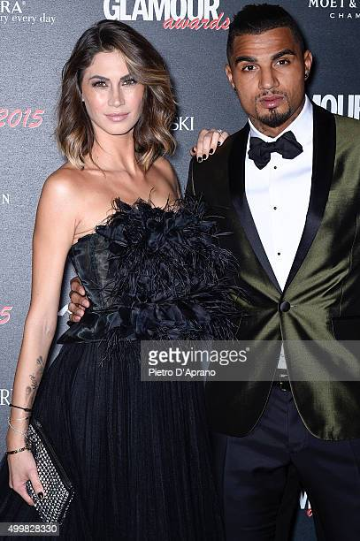 Melissa Satta and KevinPrince Boateng attends the Glamour Awards 2015 on December 3 2015 in Milan Italy