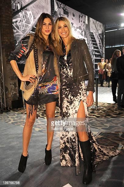 Melissa Satta andElena Santarelli attend tbe Just Cavalli Autumn/Winter 2012/2013 fashion show as part of Milan Womenswear Fashion Week on February...