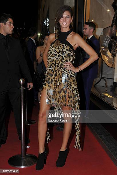 Melissa Satta arrives at The new Just Cavalli Boutique Opening Party on September 21 2012 in Milan Italy