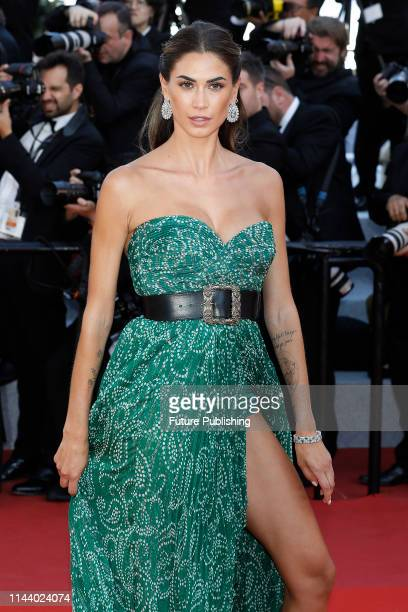 Melissa Satta at the premier red carpet for Les Miserables during the 72nd Cannes Film Festival at the Palais des Festivals on May 15 2019 in Cannes...