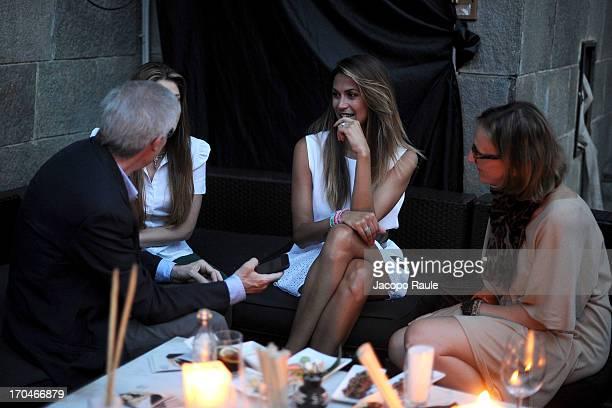 Melissa Satta attends Antica Murrina Unveils G Lace Bracelet on June 13 2013 in Milan Italy