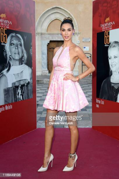 Melissa Satta attends the 65th Taormina Film Fest Red Carpet on July 01 2019 in Taormina Italy