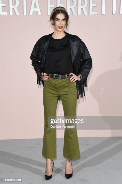 Melissa Satta attends the Alberta Ferretti show at Milan Fashion Week Autumn/Winter 2019/20 on February 20 2019 in Milan Italy