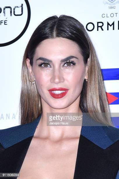 Melissa Satta attends the Alessandro Martorana Party on January 28 2018 in Milan Italy