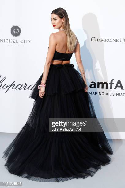 Melissa Satta attends the amfAR Cannes Gala 2019 at Hotel du CapEdenRoc on May 23 2019 in Cap d'Antibes France