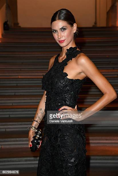 Melissa Satta attends the Celebrity Fight Night gala at Palazzo Vecchio as part of Celebrity Fight Night Italy benefiting The Andrea Bocelli...