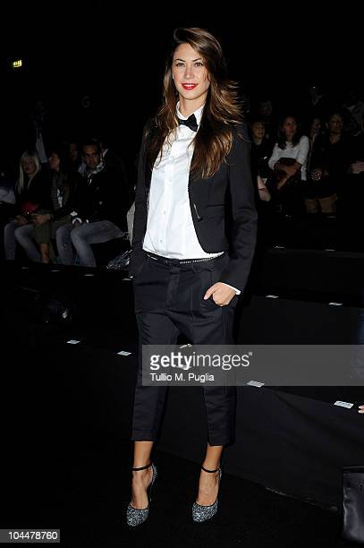 Melissa Satta attends the DSquared 2 Milan Fashion Week Womenswear S/S 2011 show on September 27 2010 in Milan Italy