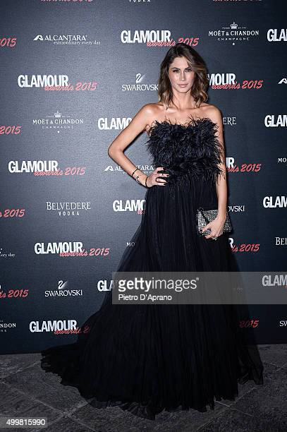 Melissa Satta attends the Glamour Awards 2015 on December 3 2015 in Milan Italy