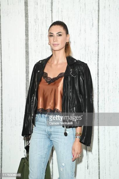Melissa Satta attends the Ha ChongHyun Exhibition Opening on September 17 2019 in Milan Italy