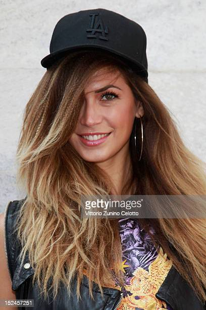 Melissa Satta attends the Just Cavalli Spring Summer 2013 fashion show as  part of Milan 1f0aa2ba48b2