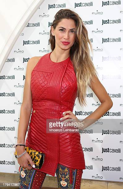 Melissa Satta attends the Puro and Just Cavalli event to unveil the new smartphone covers collection on September 3 2013 in Milan Italy