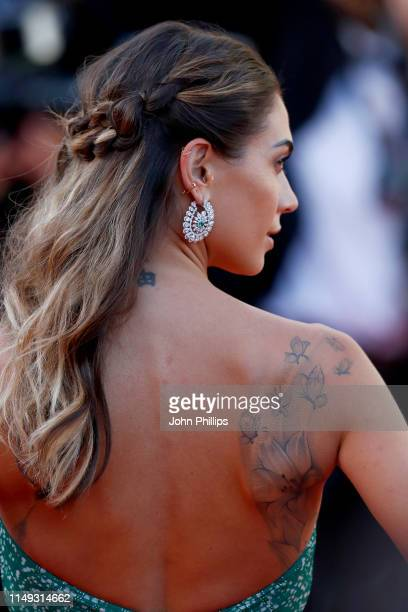 Melissa Satta attends the screening of Les Miserables during the 72nd annual Cannes Film Festival on May 15 2019 in Cannes France