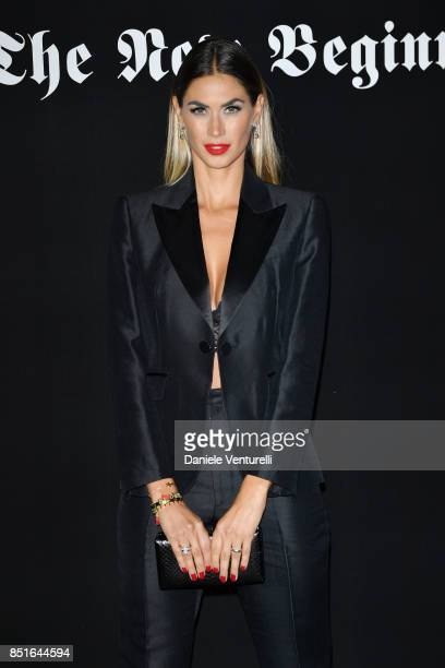 Melissa Satta attends the Vogue Italia 'The New Beginning' Party during Milan Fashion Week Spring/Summer 2018 on September 22 2017 in Milan Italy