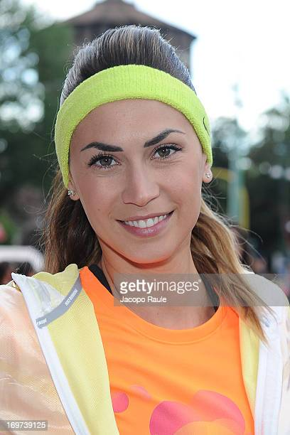 Melissa Satta attends We Own The Night Milan Women's 10k on May 31 2013 in Milan Italy