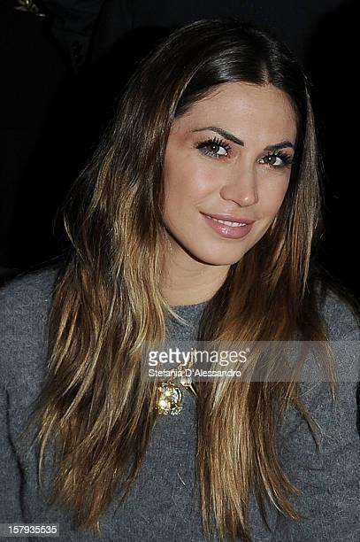 Melissa Satta attends 'X Factor' Italian TV Show Final on December 7 2012 in Milan Italy