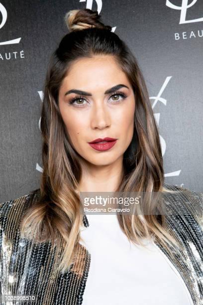 Melissa Satta attends Ysl Beauty Club Milan during Milan Fashion Week Spring/Summer 2019 on September 23 2018 in Milan Italy