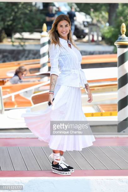 Melissa Satta is seen arriving at the 76th Venice Film Festival on August 30 2019 in Venice Italy