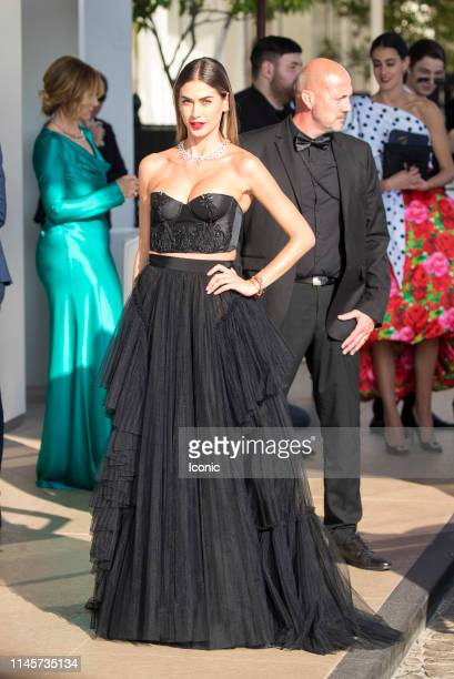Melissa Satta is seen during the 72nd annual Cannes Film Festival on May 23 2019 in Cannes France