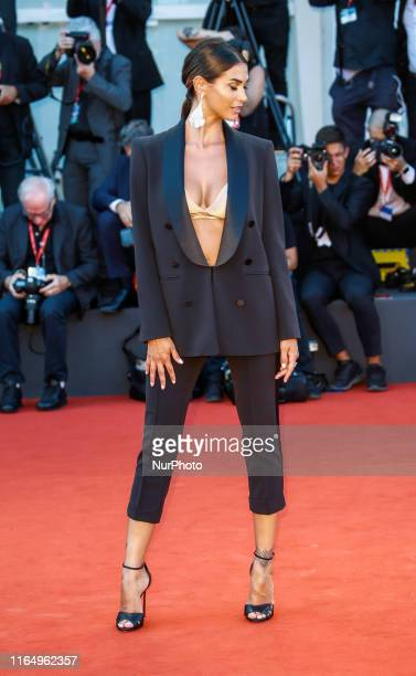 """Melissa Satta walks the red carpet ahead of the """"J'Accuse"""" screening during the 76th Venice Film Festival at Sala Grande on August 30, 2019..."""