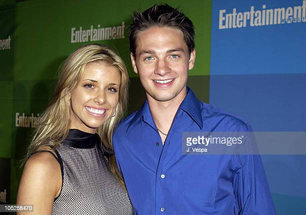 Melissa Schuman and Gregory Smith during Entertainment Weekly's 1st Annual PreEmmy Party at White Lotus in Los Angeles California United States