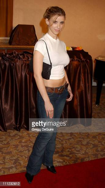 Melissa Schuman during InStyle Sneak Peek at Red Carpet Fashion for the 2003 Awards Season at Beverly Hills Hotel in Beverly Hills California United...