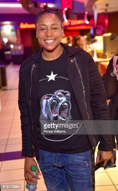 Melissa Scott attends 'Black Panther' advance screeing at Regal Hollywood on February 13 2018 in Chamblee Georgia