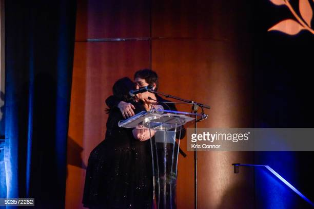 Melissa Silverstein and Kathryn Kolbert attend the 2018 Athena Film Festival Awards Ceremony at The Diana Center At Barnard College on February 23...