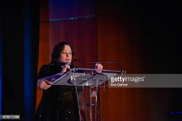 Melissa Silverstein attends the 2018 Athena Film Festival Awards Ceremony at The Diana Center At Barnard College on February 23 2018 in New York City