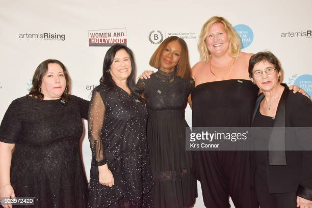 Melissa Silverstein Kristi Jacobson Barbara Kopple Amma Asante Bridget Everett and Kathryn Kolbert attend the 2018 Athena Film Festival Awards...