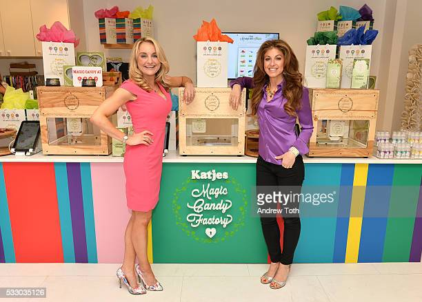 Melissa Snover and Dylan Lauren attend Dylan's Candy Bar exclusively launches first 3D printed candy in the US with Katjes Magic Candy Factory on May...