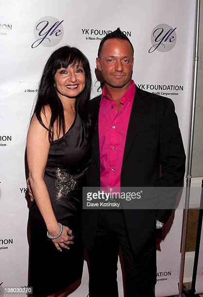 Melissa Sorrentino and Frank Sorrentino attend the 2012 YK Foundation Event at the Westmount Country Club on January 31 2012 in West Paterson New...