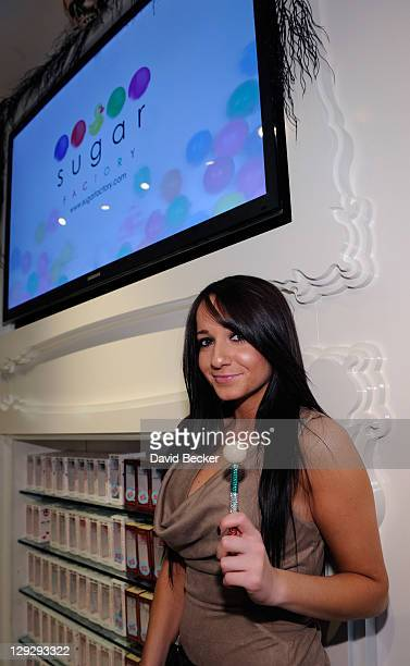Melissa Sorrentino attends the launch of her brother Mike 'The Situation' Sorrentino's new signature couture pop at the Sugar Factory at the Paris...