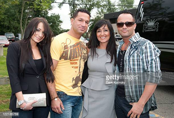 Melissa Sorrentino Marc Sorrentino Linda Sorrentino and Frank Sorrentino attend Devotion Vodka signing at Gary's Wine and Liquor Store on August 25...