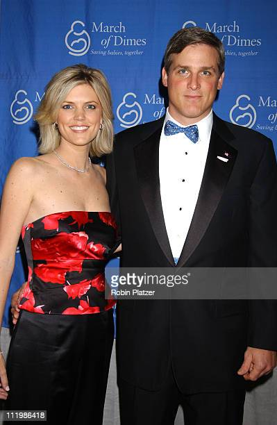 Melissa Stark and husband Michael Lilley during The March of Dimes Fraternity of Chefs Benefit Dinner at The Pierre Hotel in New York City New York...