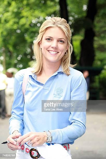 Melissa Stark at the Deepdale Golf Club in Manhasset New York
