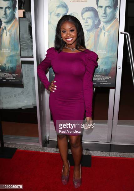 """Melissa Strong attends the LA special screening of Sony's """"The Burnt Orange Heresy"""" at Linwood Dunn Theater on March 02, 2020 in Los Angeles,..."""