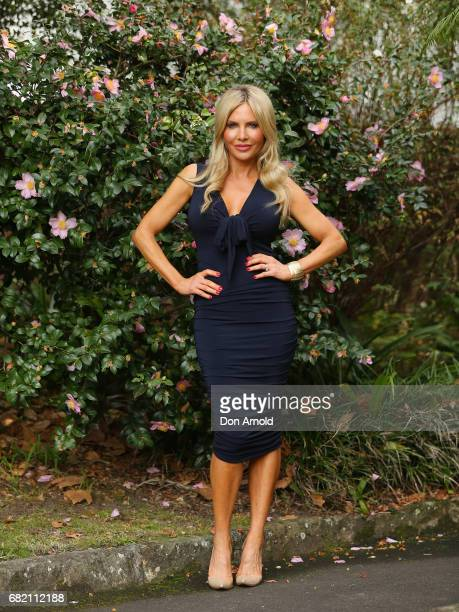 Melissa Takautz poses during a photo call for the Real Housewives of Sydney at Chiswick Restaurant on May 12 2017 in Sydney Australia