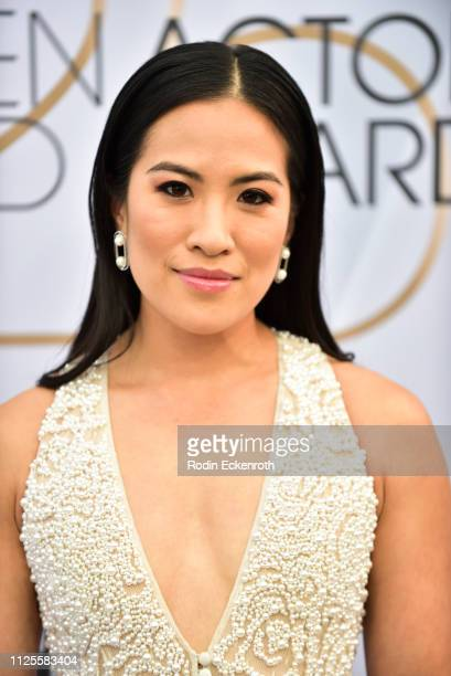 Melissa Tang arrives at the 25th Annual Screen ActorsGuild Awards at The Shrine Auditorium on January 27 2019 in Los Angeles California