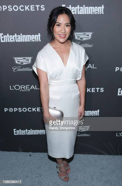 Melissa Tang attends Entertainment Weekly Celebrates Screen Actors Guild Award Nominees sponsored by L'Oreal Paris Cadillac And PopSockets at Chateau...