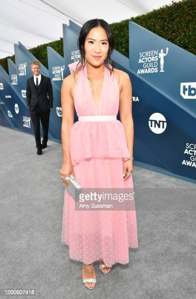 Melissa Tang attends the 26th Annual Screen ActorsGuild Awards at The Shrine Auditorium on January 19 2020 in Los Angeles California