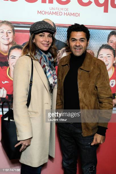 Melissa Theuriau and Jamel Debbouze attend the Une Belle Equipe premiere at Cinema Elysees Biarritz on December 03 2019 in Paris France