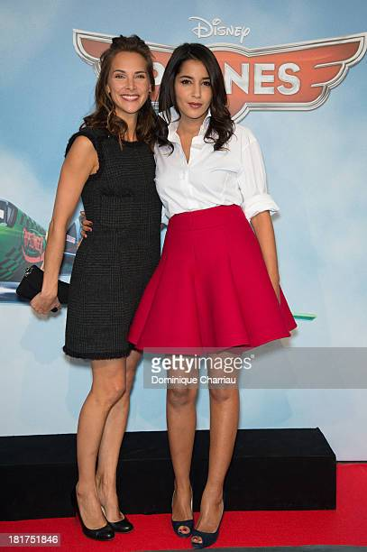 Melissa Theuriau and Leila Bekhti attend the 'Planes' Paris Premiere At UGC Normandie on September 24 2013 in Paris France