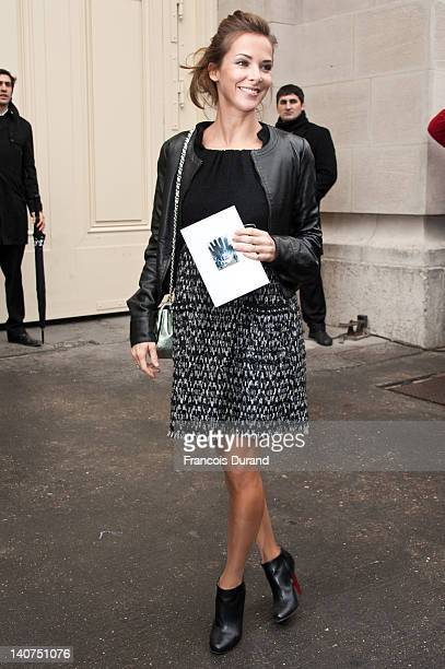 Melissa Theuriau arrives at the Chanel ReadyToWear Fall/Winter 2012 show as part of Paris Fashion Week at Grand Palais on March 6 2012 in Paris France