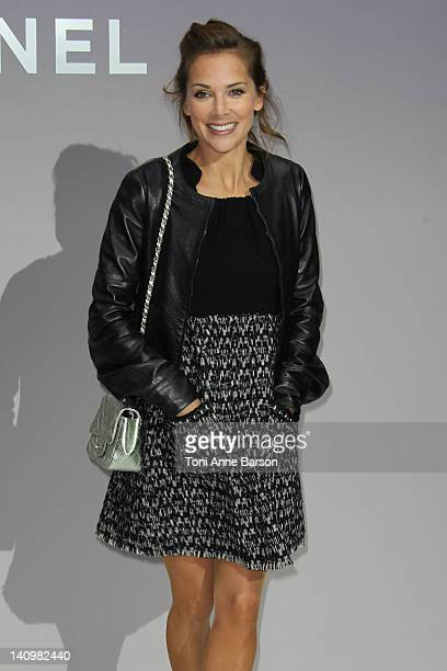 Melissa Theuriau attends the Chanel ReadyToWear Fall/Winter 2012 show as part of Paris Fashion Week at Grand Palais on March 6 2012 in Paris France