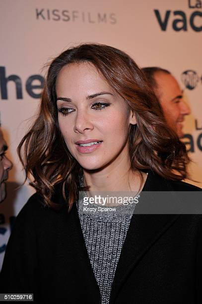 Melissa Theuriau attends the La Vache Paris Premiere at Pathe Wepler on February 14 2016 in Paris France