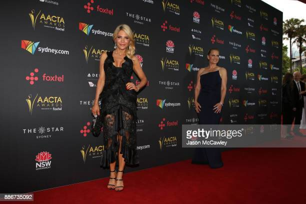 Melissa Tkautz and Shaynna Blaze attend the 7th AACTA Awards Presented by Foxtel | Ceremony at The Star on December 6 2017 in Sydney Australia