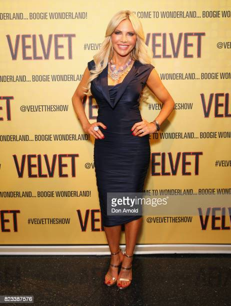 Melissa Tkautz arrives ahead of the VELVET opening night at Roslyn Packer Theatre on July 27 2017 in Sydney Australia