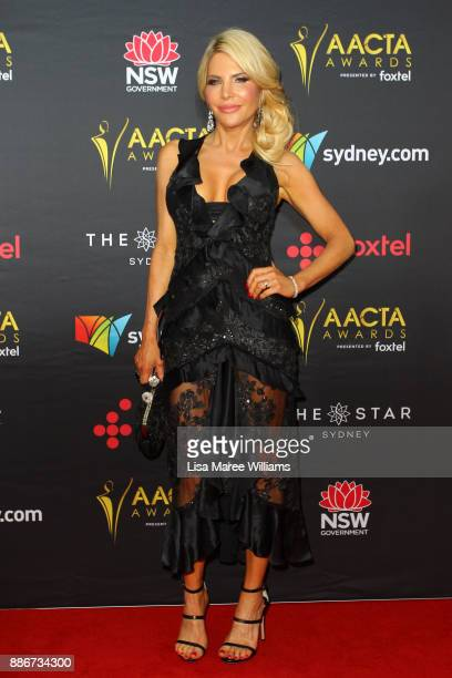 Melissa Tkautz attends the 7th AACTA Awards Presented by Foxtel | Ceremony at The Star on December 6 2017 in Sydney Australia